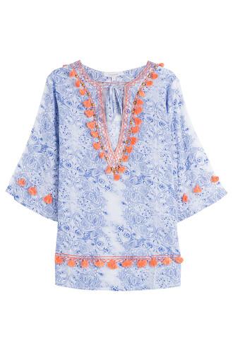 tunic cotton multicolor top