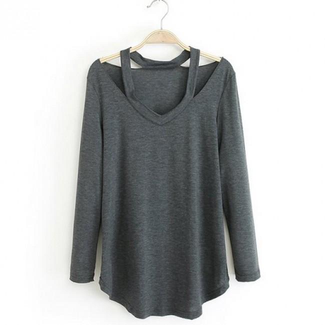 Off shoulder solid top
