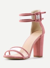 shoes,girly,ankle strap,ankle strap heels,pink,chunky heel