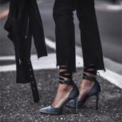 shoes,tumblr,ankle strap heels,ankle strap,velvet,velvet shoes,pumps,pointed toe pumps,high heel pumps,denim,jeans,black jeans