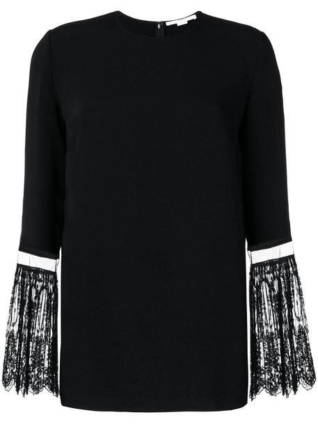 Stella McCartney blouse women spandex lace cotton black top