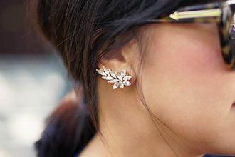 jewels cuff earrings diamonds