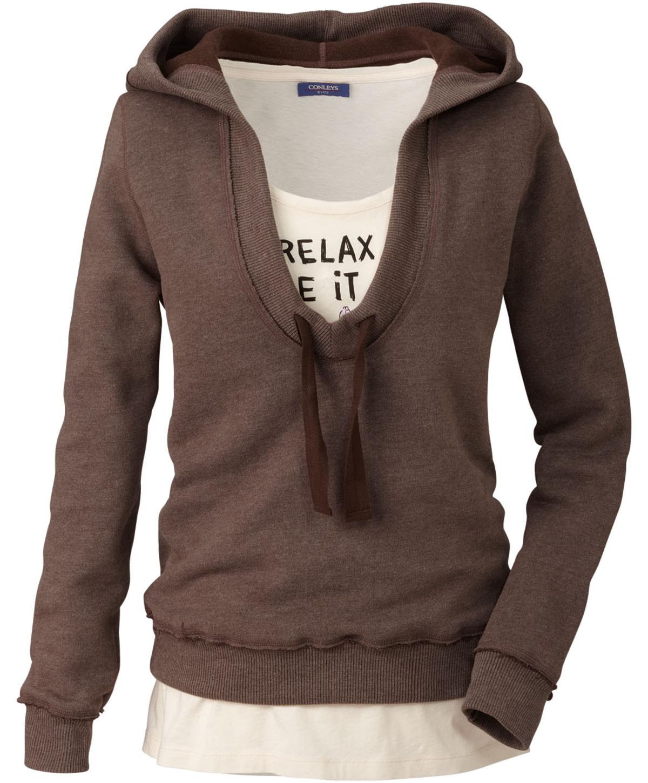 Sweatshirt in braun von MANDALAY bei Conleys