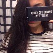 phone cover,iphone case,iphone 5 case,queen,black,orion carloto,sassy,queen of fucking everything,cool,iphone,black phone case,iphone 4s,black and white,eveything,white,nail accessories,fabulous,everything,fashion,yee,transparent case,iphone 6 case,iphone cover,black heels,quote on it,help iphone case,home accessory,iphone 6 phone cover