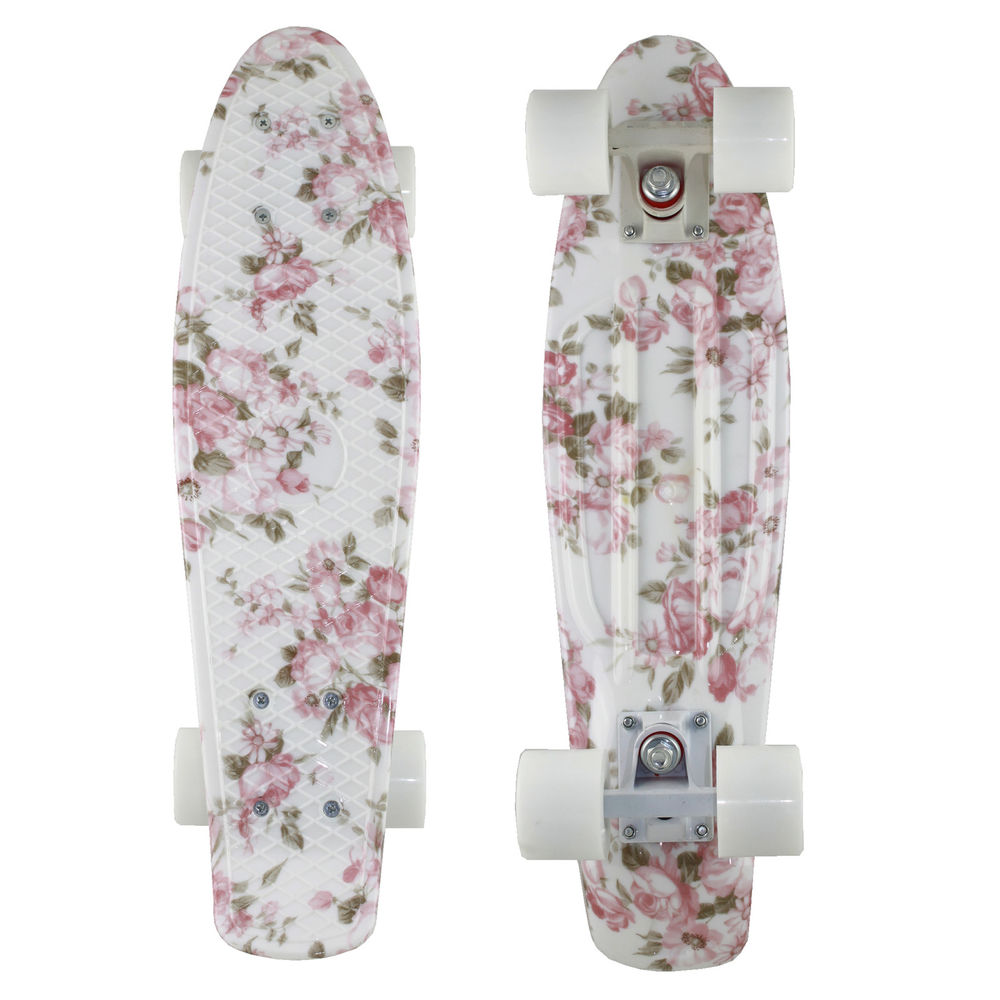 2014 Retro Skateboard 70'S Cruiser Penny Style Complete 22 Flower Floral Board | eBay