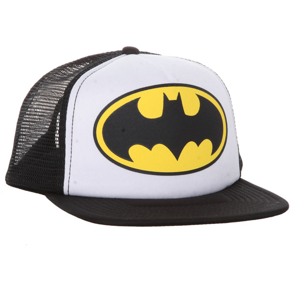 DC Comics Batman Trucker Hat | Hot Topic - Polyvore
