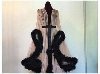 fur satin victoria's secret pink tumblr sheer robe silk