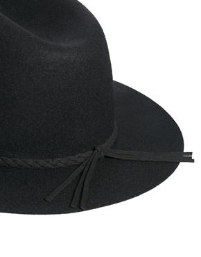 ASOS | ASOS Felt Fedora Hat With Plait Braid at ASOS