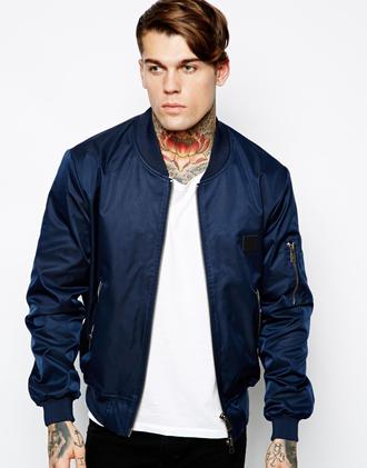 jacket bomber jacket menswear navy eleven paris