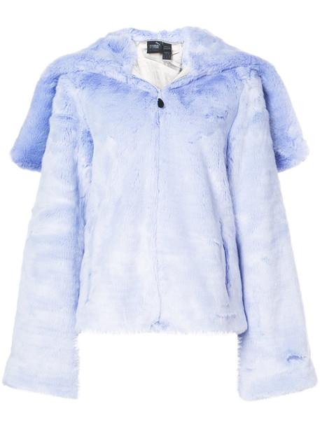 jacket hooded jacket fur faux fur women purple pink