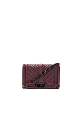 love quilted bag crossbody bag chevron burgundy