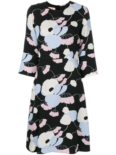 MARNI dress print dress women floral print black silk