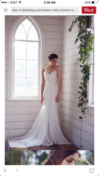 dress karen willis holme white anya collection wedding dress sequin dress