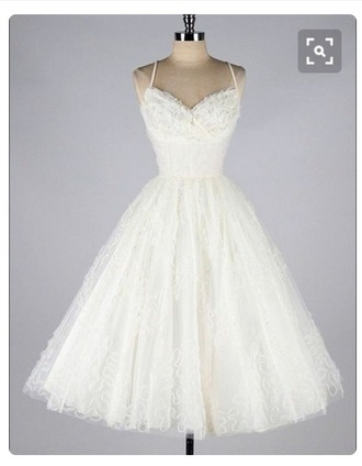 dress white dress white 50s style old fashioned cute cute dress girly gorgeous