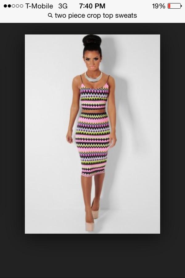 crop tops knee length dress