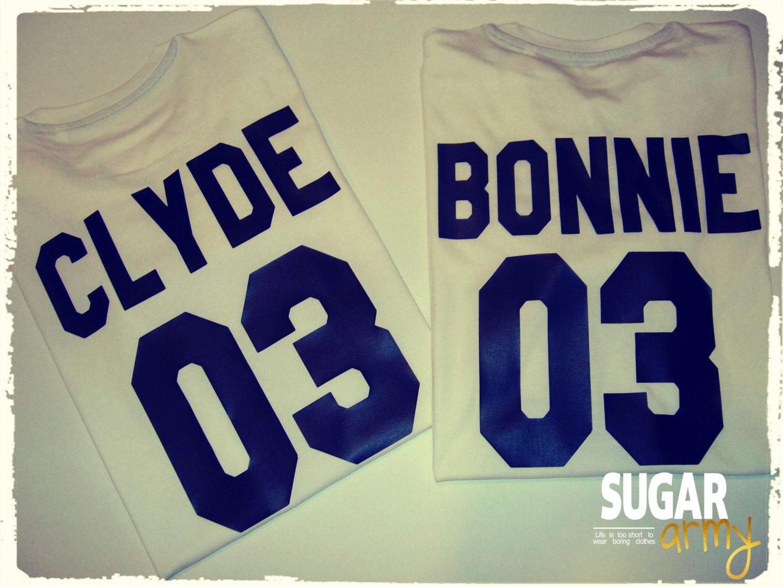 Bonnie Clyde shirts, Bonnie & Clyde couple shirts, couple tshirts, Bonnie Clyde tees, Unisex style