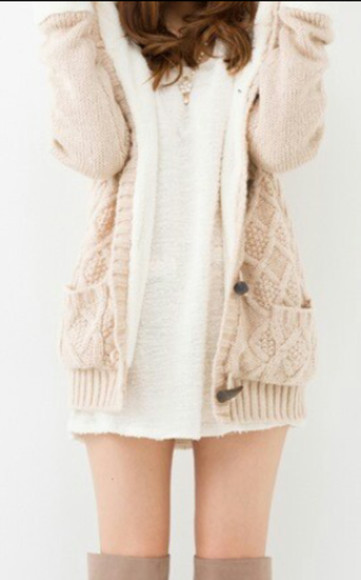 cardigan beige oversized sweater want want want
