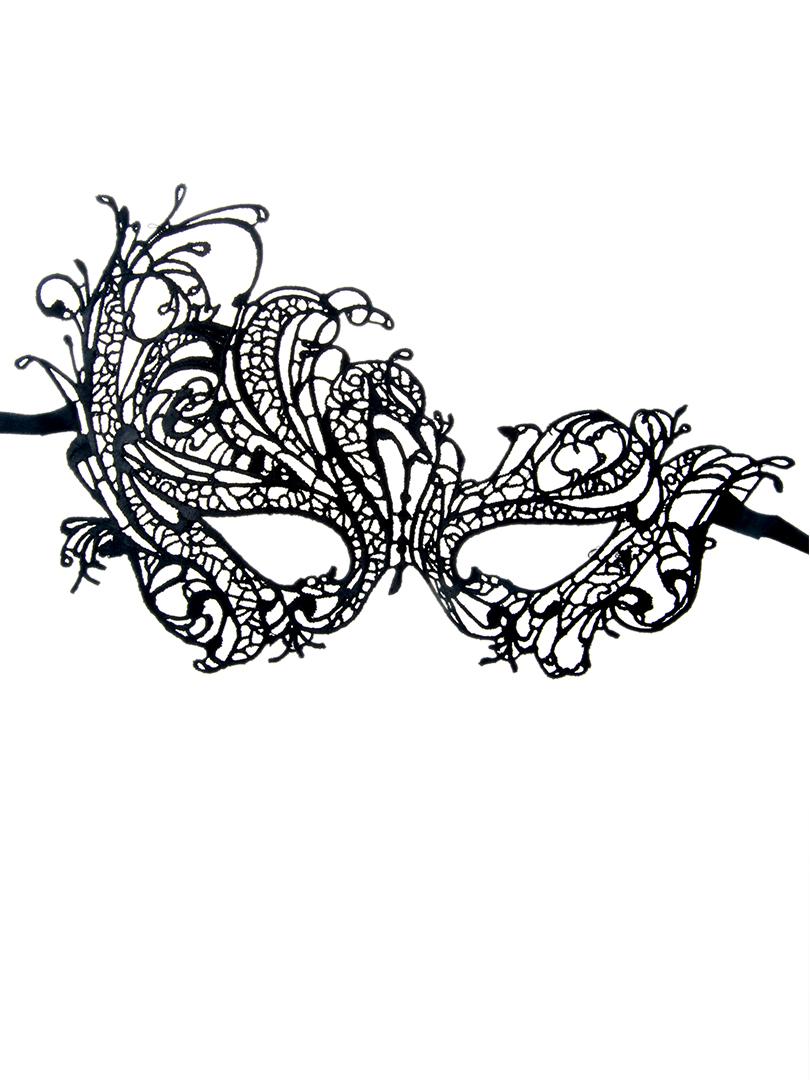 Black Phoenix Crochet Lace Mask Choies