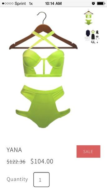 swimwear lime bikini swimwear