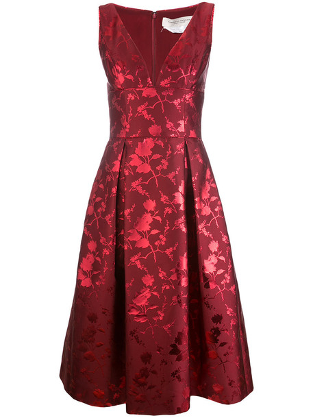 Carolina Herrera dress women jacquard red