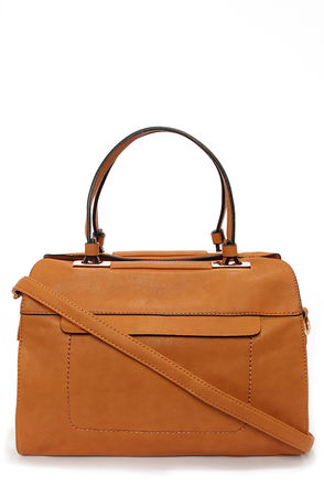 A Lot to Handle Tan Handbag