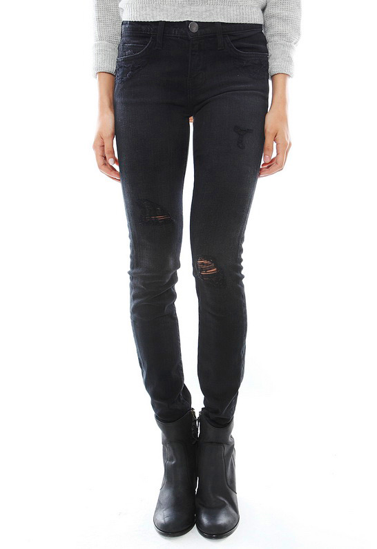 CurrentElliott The Ankle Skinny in Driftwood Destroy | SINGER22.com