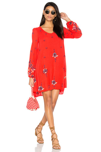 dress mini dress mini embroidered red