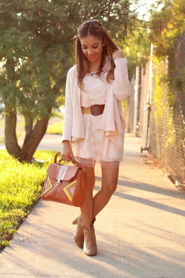 dulce candy bag jewels sweater dress shoes