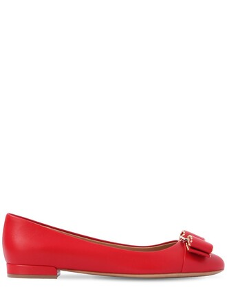 studded flats leather flats leather red shoes