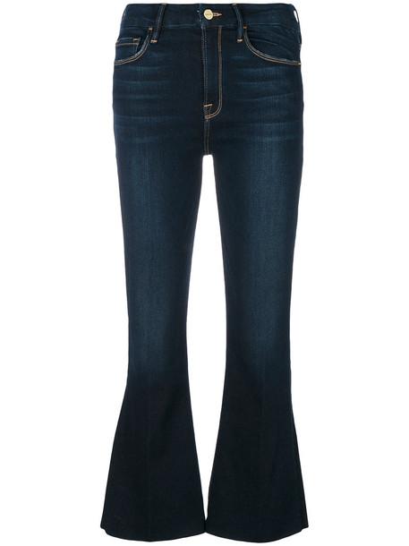 jeans cropped women spandex cotton blue