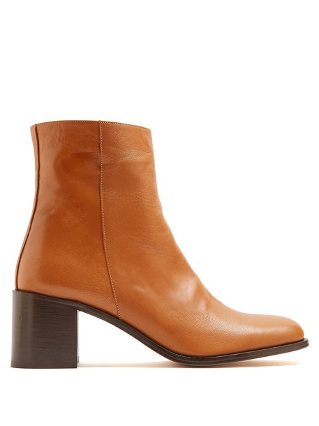 leather ankle boots ankle boots leather tan shoes
