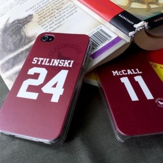 shirt lahey stilinski burgundy mccall phone case iphone case teens ...