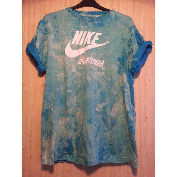 Reworked tie dye seapunk retro sports nike t shirt by for Nike tie dye shirt and shorts