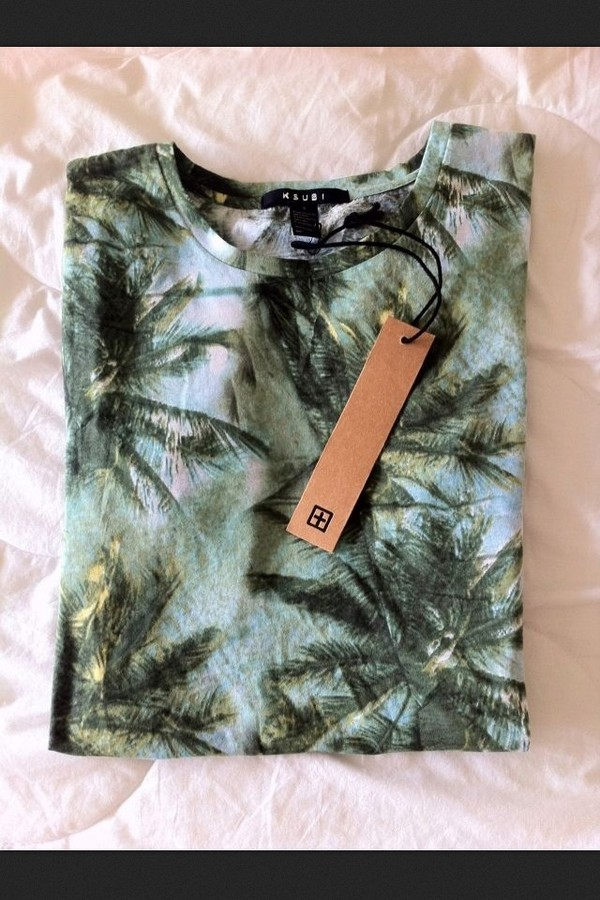 sweater palm tree print tropical
