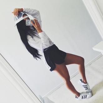 shorts maniere de voir banded runner black