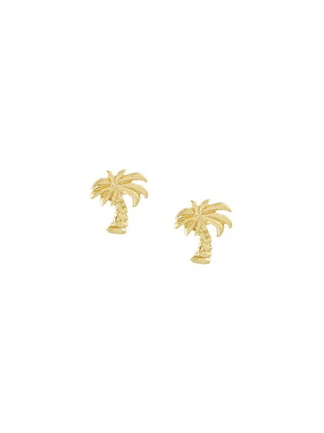 Carolina Bucci women earrings gold grey metallic jewels