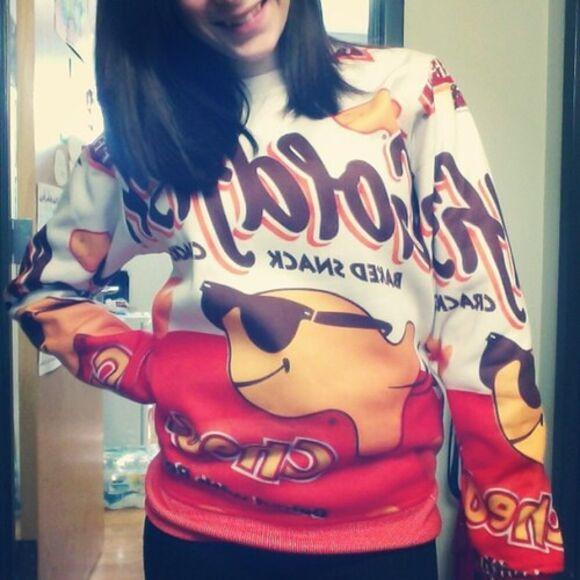sweater t-shirt too dope goldfish
