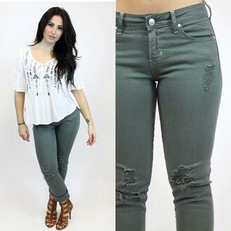 jeans articles of society green army green denim