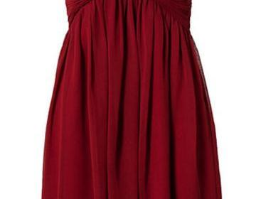 Pretty simple burgundy short chiffo..