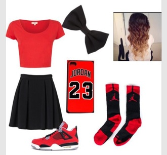 shoes jordan's chicago bulls love red styke fashion yass socks phone cover top hair accessory