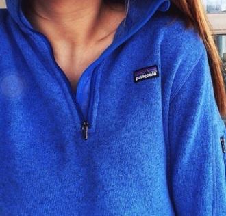 jacket blue sweater half zip patagonia