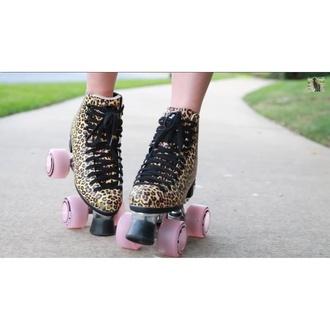 shoes leopard print roller skates summer sports