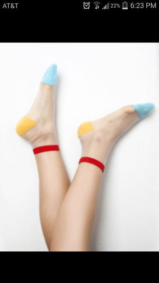 sheer socks too cute