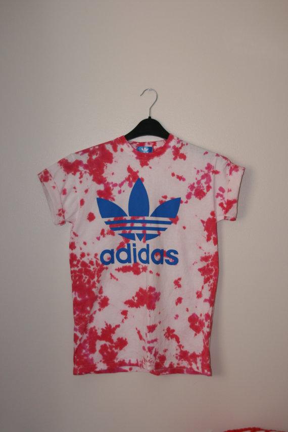 Unisex Adidas Tie-Dye T-Shirt - Size S