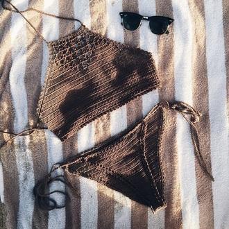 swimwear fashion bikini crochet bikini