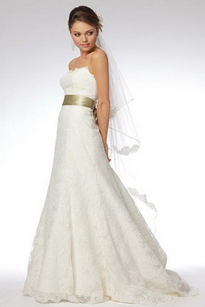 dress white bridal gowns a-line wedding dresses