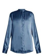 shirt,teal shirt,teal blouse,blouse,lookalike,haider ackerman,silk shirt,silk blouse,satin shirt,satin blouse