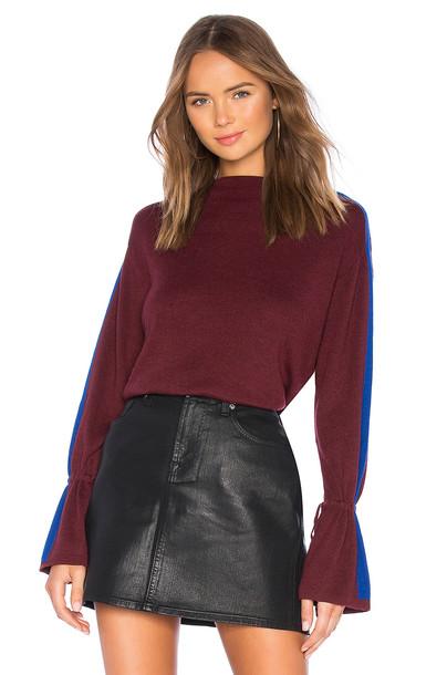 Splendid Alpine Sweater in burgundy