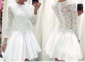 dress lace short cocktail prom cheap lace dress white dress long sleeve dress beautycon