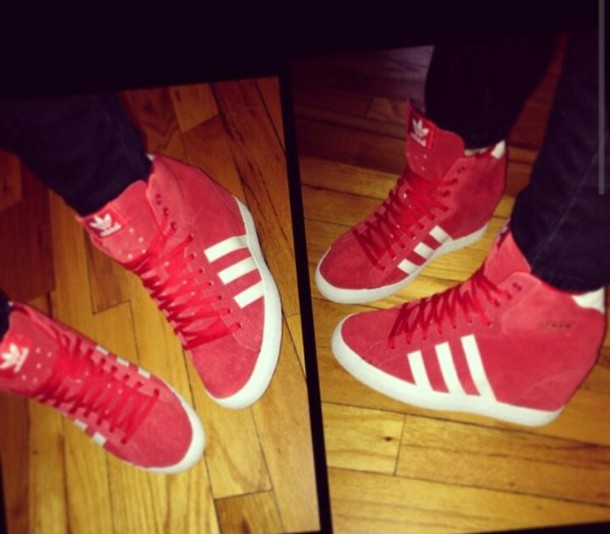 175087cebb0 shoes adidas wedge sneakers red trendy urban dope